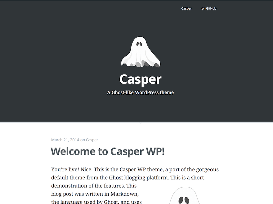 Casper WordPress theme