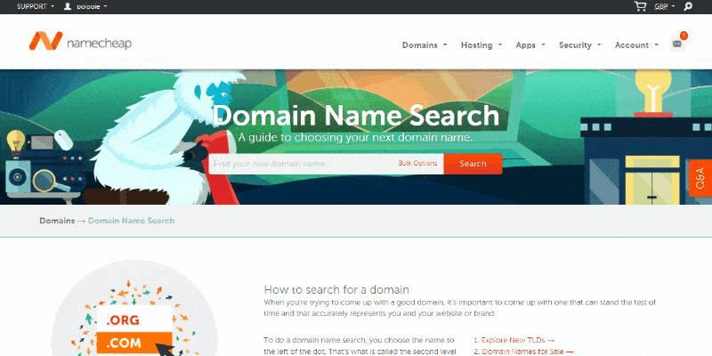 NameCheap Domain Service
