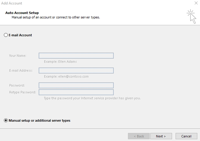 Outlook Account Setup