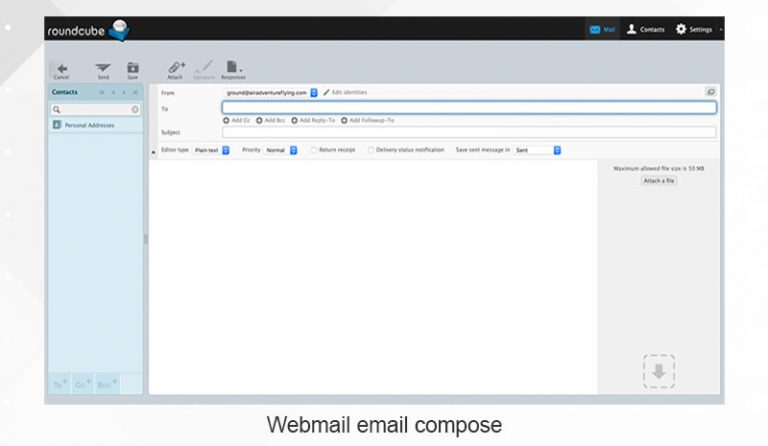 Roundcube email compose