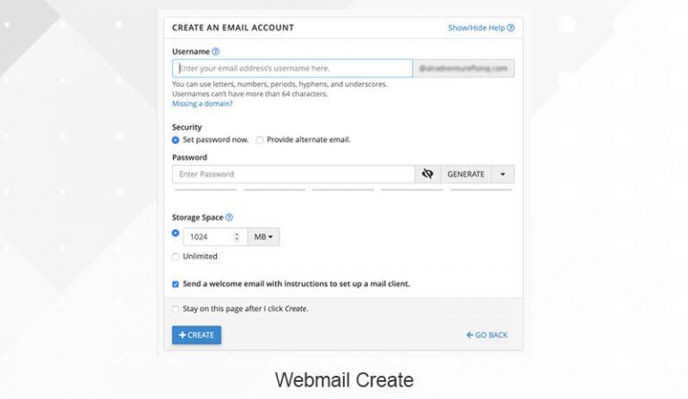 create webmail