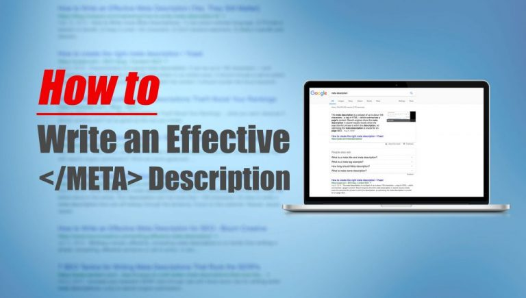 How to write an effective meta description