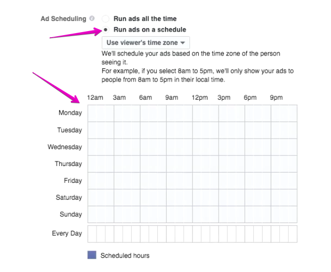 Scheduled Ad