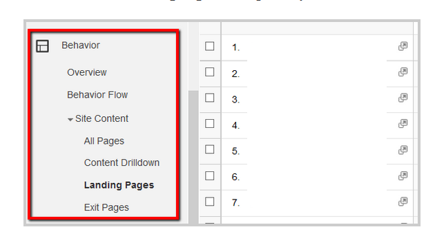 Find pages