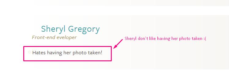 Sheryl hates photo