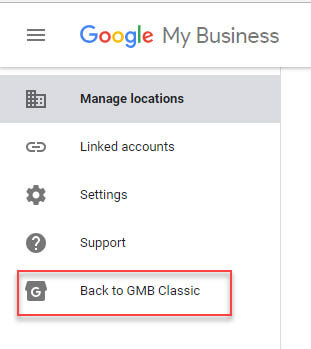 Google my business classic view