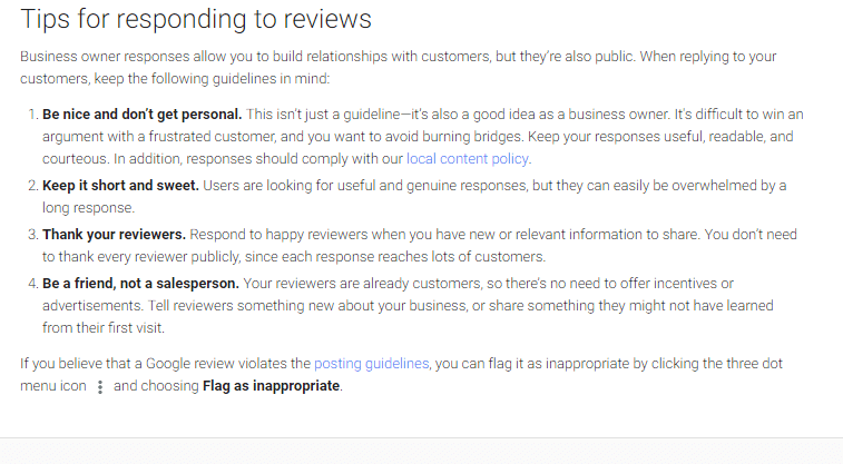 Review replying tips