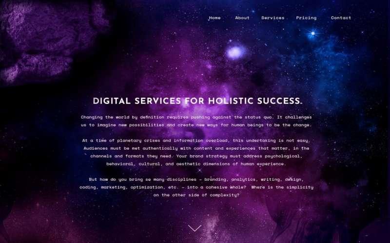 Glow website design