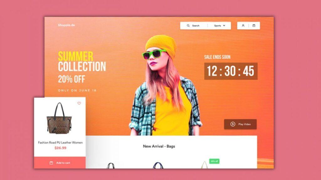 eCommerce website UI design