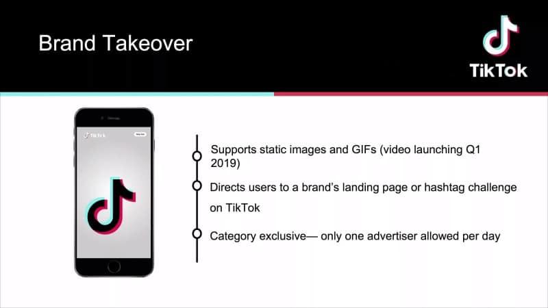 TikTok Brand Takeover
